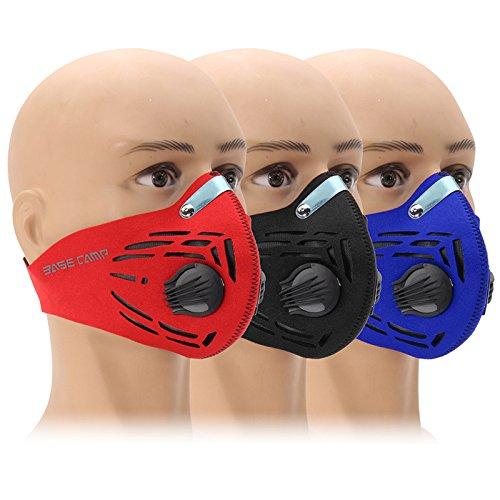 ShopSquare64 Filtro de Aire de Carbã³n Activado a Prueba de Polvo Mascara Half Face Ciclismo Entrenamiento Deportivo Mascara al Aire Libre Mascara