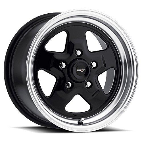 AMERICAN MUSCLE NITRO Wheels/Rims 15x4 inch 114.3 ET-19 Gloss Black Machined Lip ()