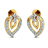 JewelsForum Earrings in 14Kt Yellow Gold with Diamond Studs 0.28 Carat TCW