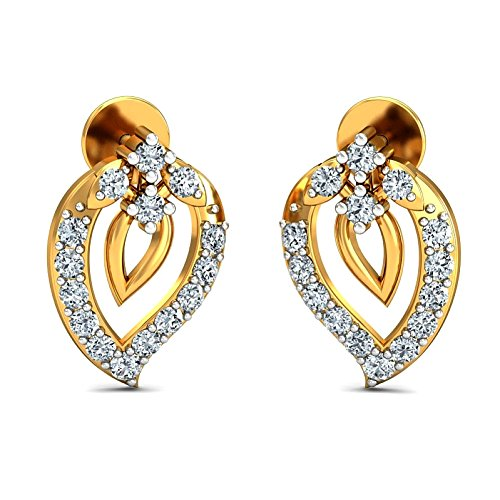 JewelsForum Earrings in 14Kt Yellow Gold with Diamond Studs 0.28 Carat TCW by JewelsForum