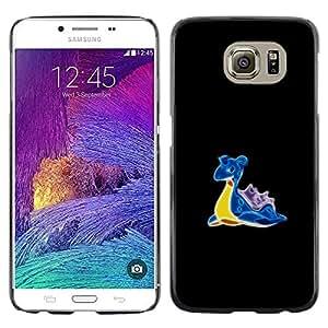 LECELL--Funda protectora / Cubierta / Piel For Samsung Galaxy S6 -- P0kemon Totodile --