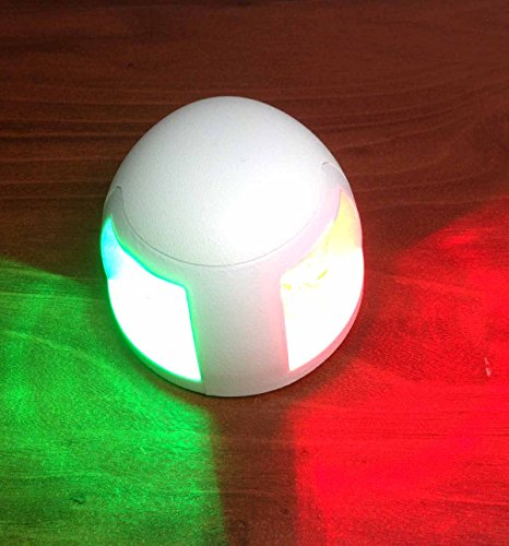 MARINE BOAT RED AND GREEN BOW LED NAVIGATION LIGHT WATERPROOF 12M BOAT MX by Pactrade Marine
