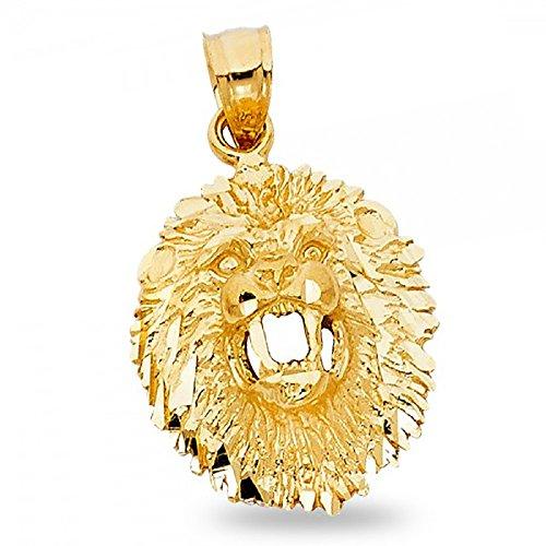 Zodiac Gold Lion Charm - 9