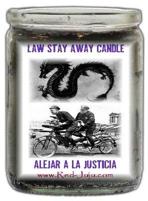 Law Stay Away 50 Hour Candle - Vela para Alejar la Justicia