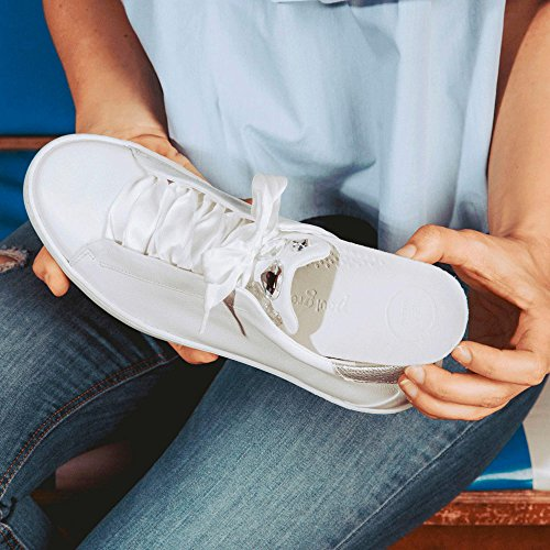 Paul Green Blanc White Femme Cervo M Argent Baskets Silver Masterc qgqa1
