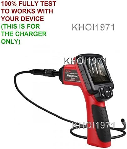 KHOI1971 Wall Charger AC Power Adapter for RED Black-Trim Autel MAXIVIDEO MV400 videocope Borescope Inspection Camera
