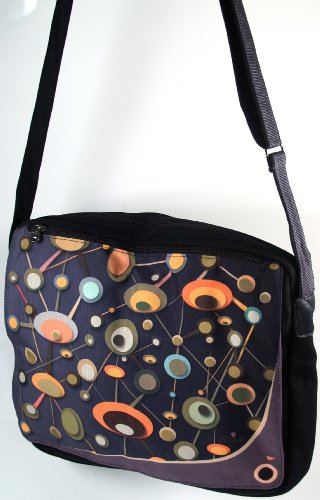 Guru-Shop 70`s up Retro Sacchetto di Spalla, Unisex - Adulti, Multicolore, Sintetico, Size:One Size, 33x38x 6 cm, Borse Retro