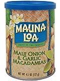 Mauna Loa Macadamias, Maui Onion and Garlic, 4.5 Ounce Containers
