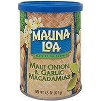 MAUNALOA莫纳罗毛伊岛洋葱大蒜味烘焙夏威夷果 127g (美国进口)