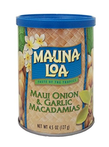 Mauna Loa Macadamias (Mauna Loa Macadamias, Maui Onion and Garlic, 4.5 Ounce Containers)