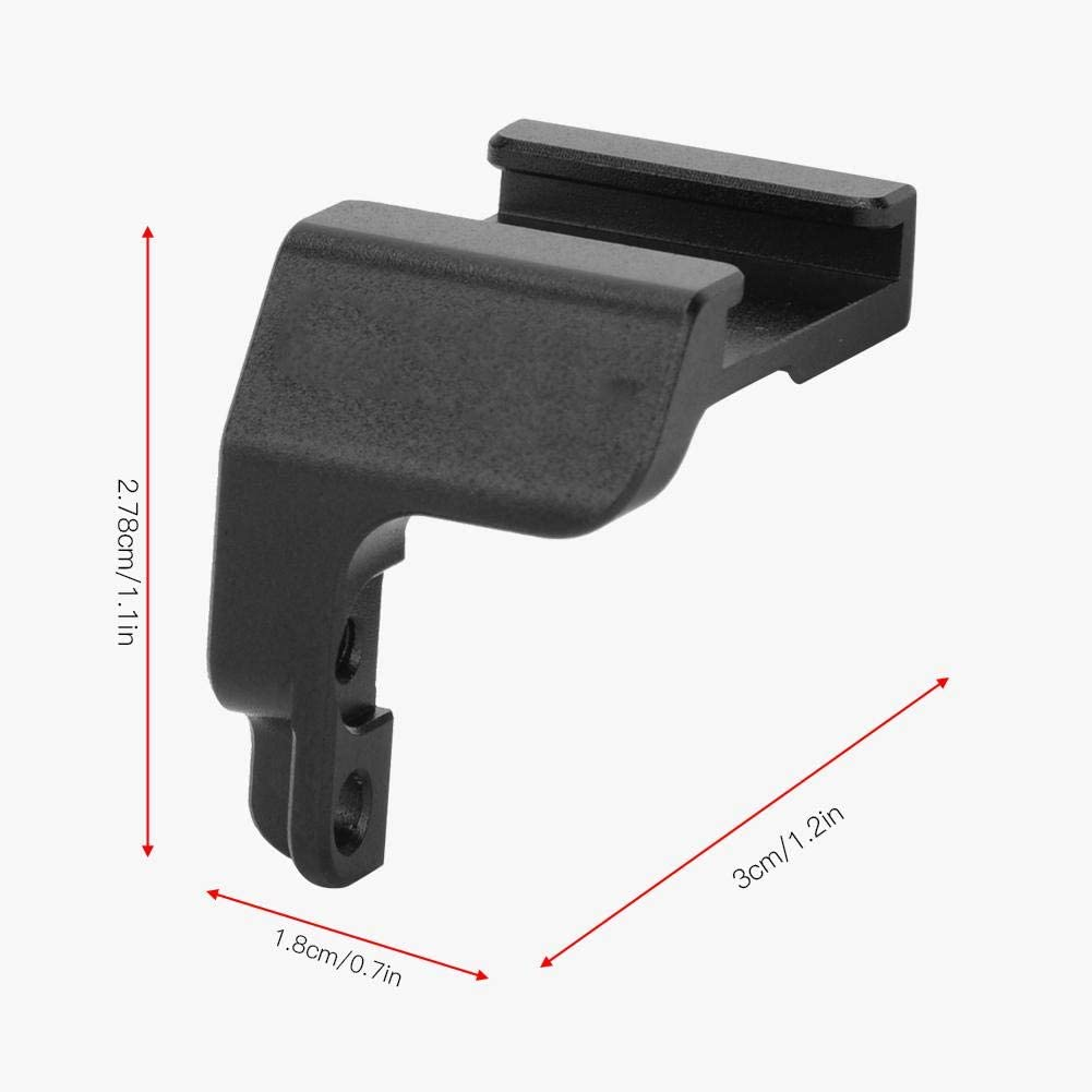 V BESTLIFE Microphone Cold Shoe Mount Adapter Bracket,Aluminium Alloy Microphone Cold Shoe Converter Mount Extension Plate Bracket for Sony A6400 Camera