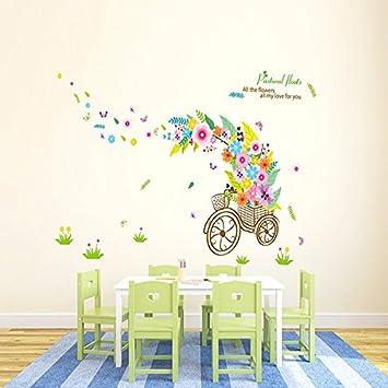 HCCY Sie Können Zimmer Romantische Blume Fahrzeug Farbe Wand Papier Die  Wand Aufkleber Animation Schlafzimmer Frischen