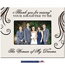 Dayspring Milestones Parent Wedding Gift Thank You for Raising Your Daughter to Be the Woman of My Dreams Wedding Gift for Parents 9.75 Inches Long X 7.75 Inches High (White)