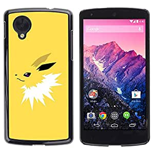 YiPhone /// Prima de resorte delgada de la cubierta del caso de Shell Armor - Yellow Poke - LG Google Nexus 5 D820 D821