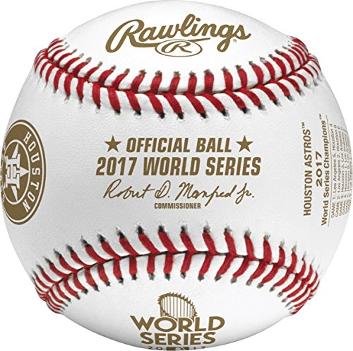 fan products of Rawlings 2017 Official Houston Astros World Series Champions Baseball With Display Cube