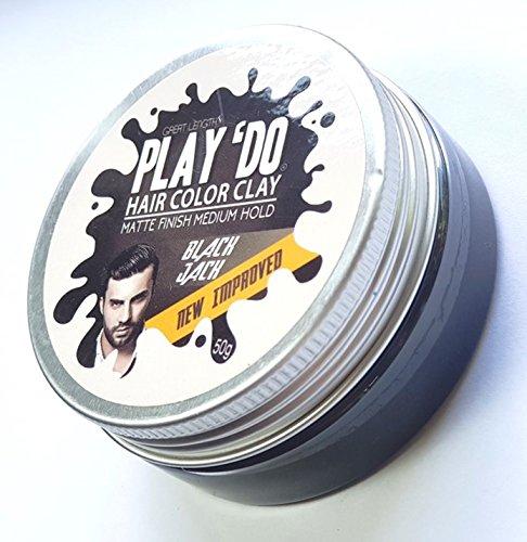 Play 'Do Temporary Hair Color, Hair Wax, Hair Clay, Mens Grooming, Pomade, Black hair dye(1.8 ounces) by Great Lengths (Image #3)
