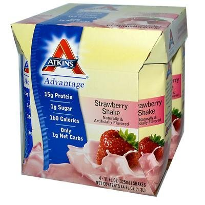 (ATKINS SHAKE,RTD,STRAWBERRY, 4/11 FZ by Atkins)