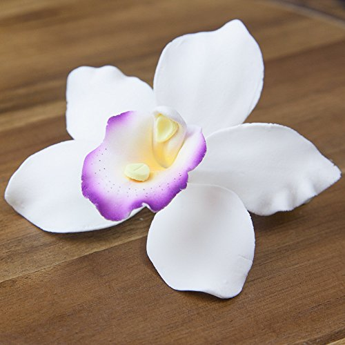 Pearly Orchids, White with Purple, Large 12 Count by Chef Alan Tetreault by ALAN TETREAULT SELECT PRODUCTS (Image #1)
