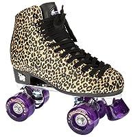ROOKIE Unisex Rollschuh Rookie Rollerskates Classic RKE-SKA-05 40,5 Gold Leopard