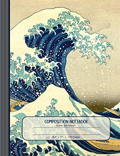(Composition Notebook: Journal (Large) - Guitar Tab Music Paper Book - Hokusai Wave Japanese Art)