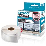 DYMO LW Durable Labels for LabelWriter Label Printers, White Poly, 1? x 3-1/2?, Roll of 100 (1976200)