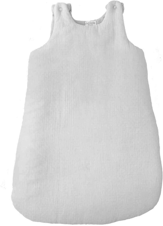 Gigoteuse b/éb/é en mousseline de coton blanche TOG 2 Taille 0 6 mois