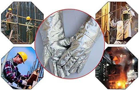 手袋 アルミホイル手袋、高温および放射線耐性手袋、5本の指で肥厚/ 37 Cm LMMSP