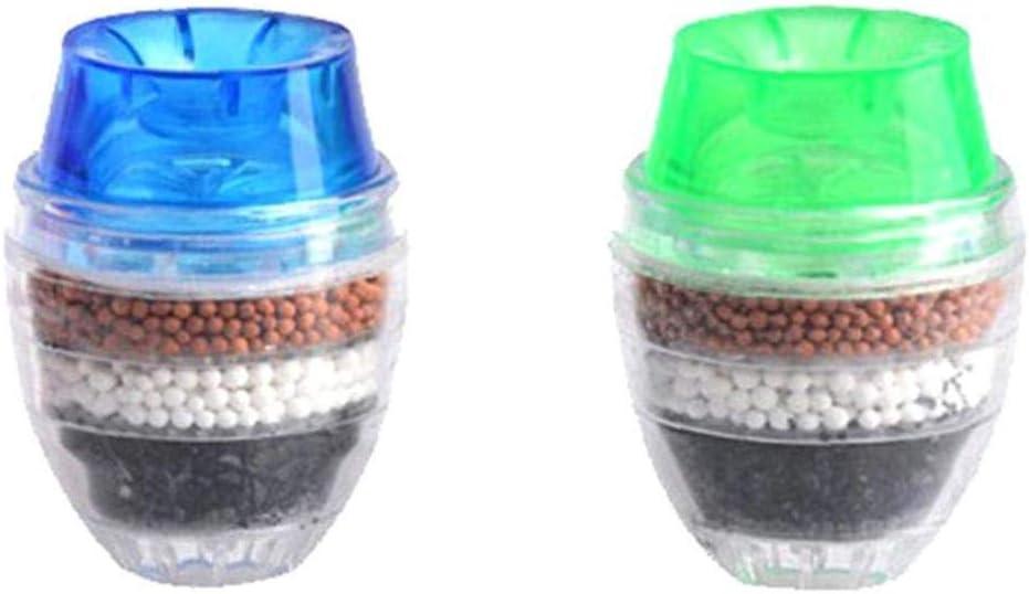 Color al Azar YZLSM Monte Grifo filtros dom/ésticos Inicio de Coco de Carbono Cartucho del Grifo de Agua Limpia purificador del Filtro