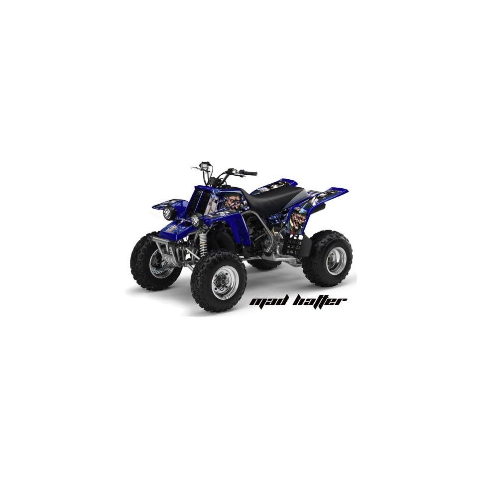 AMR Racing Yamaha Banshee 350 ATV Quad Graphic Kit   Madhatter Blue, Black