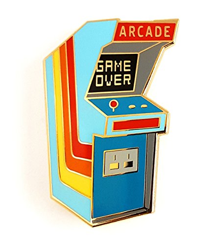 Pinsanity Vintage Arcade Cabinet Lapel Pin