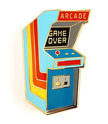 (Pinsanity Vintage Retro Arcade Cabinet Enamel Lapel)