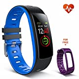 Fitness Tracker Watch, iWOWNfit i6HRC Fitness Watch with Heart Rate Monitor Color Screen, IP67 Waterproof 7 Sports Modes Smart Bracelet Pedometer Watch Sleep Monitor Calorie Counter for Kids Women Men
