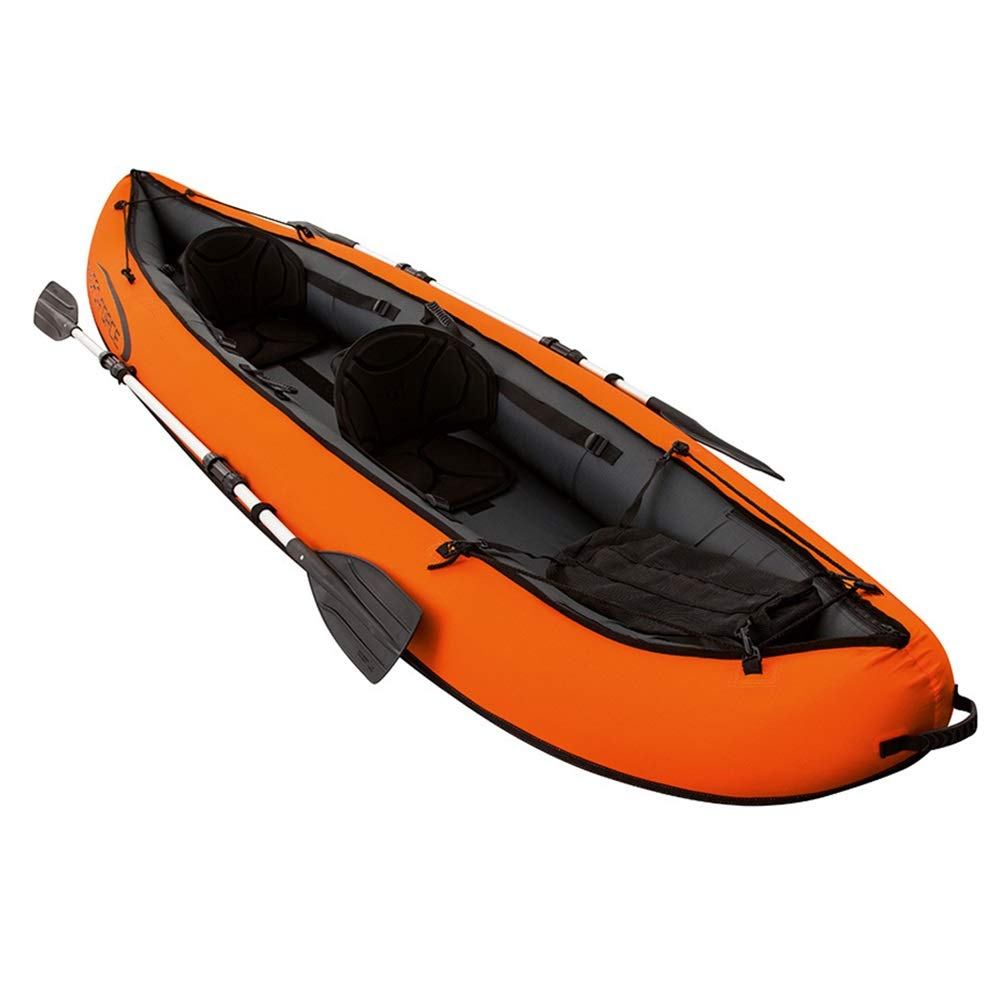 Shenghua1979-SP Kayaking Three Thick Fishing Boat Inflatable Boat Dinghy Assault Boat Skin Kayak Kayak Hovercraft Orange (Color : Orange, Size : 330x94cm) by Shenghua1979-SP