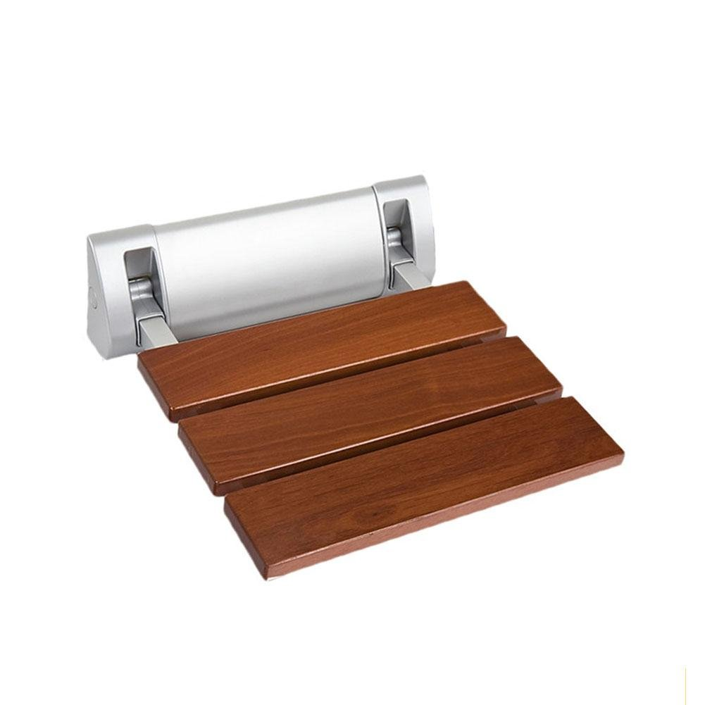 TSAR003 Solid Wood Bathroom Folding Shower Seat Wall Mounted,Specifically For The Elderly /Pregnant Women/Disabled People,32Cm*32.8Cm,350 Lb Load , A