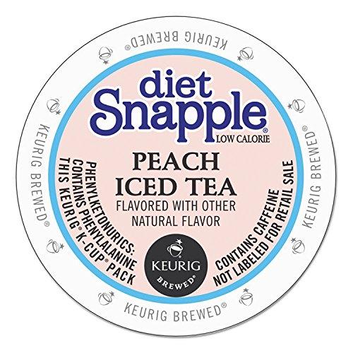Snapple Diet Iced Tea, Peach, 22 Count Net Wt. 3.1 oz