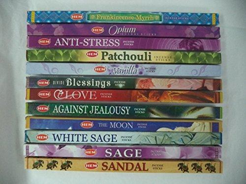 HEM Incense Best Sellers #5 Set: 12 Boxes X 8 Sticks, Total 96 Sticks