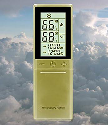 Universal AC Fahrenheit Remote For Most Models of Carrier,Trane,Toshiba,Sanyo,Mitsubishi,Fujitsu,Hitachi,Haier,LG,York,Midea,Fedders,Sharp,Samsung,Hyundai,Friedrich,Gree,Daikinr,Tadiran & More