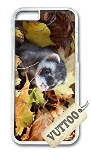 iPhone 6 Case,VUTTOO iPhone 6 Cover With Photo: Ferret Autumn Leaves For Apple iPhone 6 4.7Inch - PC Transparent Hard Case