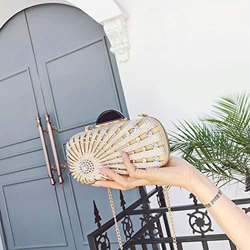 Crystal Sparkling Handbag Party Prom Women's Evening Glitter Pouch Purse Rhinestone Bag Clutch Beautiful Flada Gold Clutch 5w6Rxz67