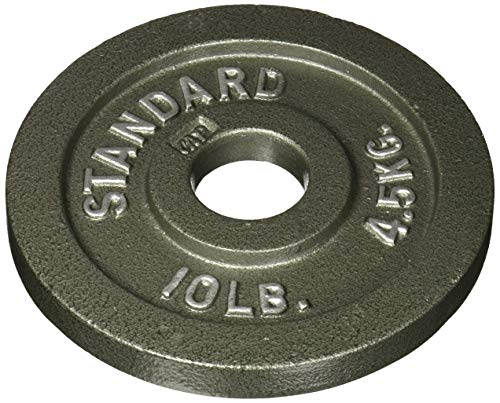 CAP Barbell Olympic 2-Inch Weight Plate, GRAY 10 LBS( 4.5 KGS), Single