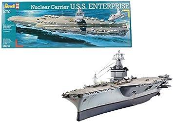 Revell- Nuclear Carrier U.S.S. Enterprise Maqueta Portaaviones, 10+ Años, Multicolor (05046)