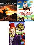 Willy Chitty Fiddler Triple Feature Musicals Chitty Chitty Bang Bang DVD Fiddler on The Roof & Willy Wonka & the Chocolate Factory Movie Bundle