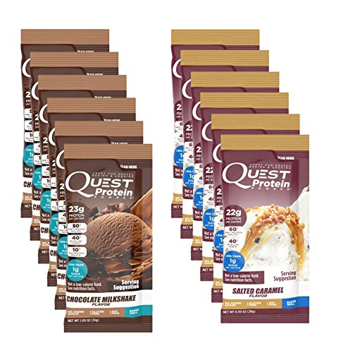 Quest Nutrition Quest Protein dvWnpM Powder, Chocolate Milkshake/Salted Caramel 24 Count (12 of Each) by Quest Nutrition