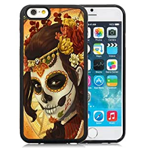 Fashion DIY Custom Designed iPhone 6 4.7 Inch TPU Phone Case For Girl Skull Mask Art Phone Case Cover