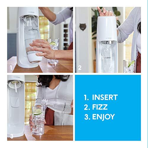SodaStream Fizzi Sparkling Water Maker, Carbonator Not Included, Black