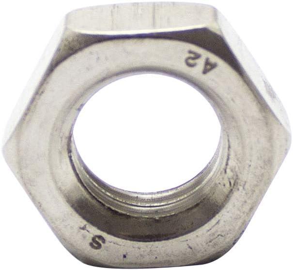 Muttern Flachmuttern 2 St/ück Sechskantmuttern M8 niedrige Form DIN 439 Edelstahl A2