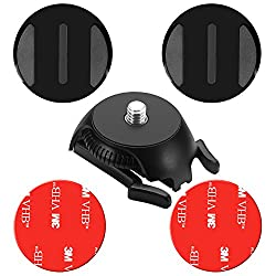 Neewer Buckle Mount Base With Adhesive Sticker For Gopro Hero Session 5 4 3+ Akaso Victsing Apeman Qumox Lightdow Ricoh Theta Sm15sc Samsung Gear 360 Action Camera With 14 Inch Screw
