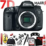 Canon EOS 7D Mark II DSLR Camera Body with W-E1 Wi-Fi Adapter (International Model) with Extra Accessory Bundle