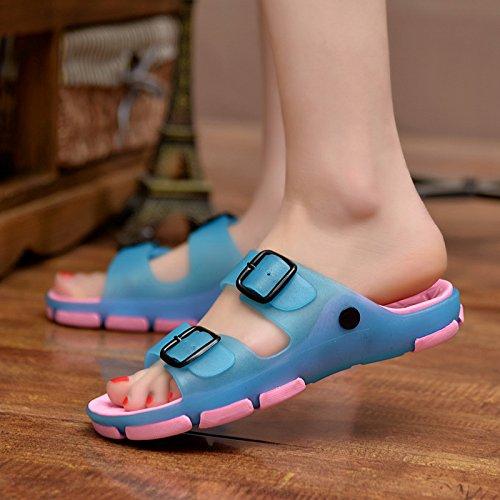 personalità fankou scarpe da Rosa spiaggia di Uomini estate antiscivolo umido fuori stanza gli per scarpe della al uomini da sia Blu all'interno pantofole e maschio sandali 38 cool bagno r8Pp7Or