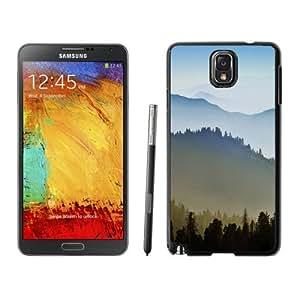 NEW Unique Custom Designed Samsung Galaxy Note 3 N900A N900V N900P N900T Phone Case With Sunrise Over Hills_Black Phone Case wangjiang maoyi